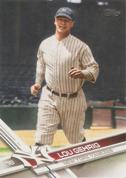 2017 Topps #482 Lou Gehrig Front