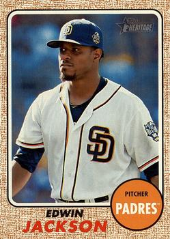 2017 Topps Heritage #194 Edwin Jackson Front