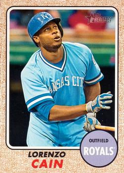 2017 Topps Heritage #253 Lorenzo Cain Front
