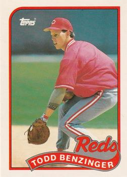 1989 Topps Traded #9T Todd Benzinger Front