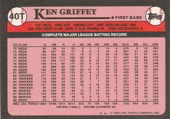 1989 Topps Traded #40T Ken Griffey Back