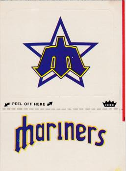 1981 Fleer Laughlin Team Stickers #NNO Seattle Mariners Monogram Front
