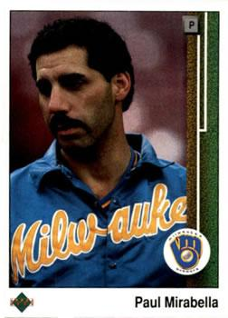 1989 Upper Deck #322 Paul Mirabella Front