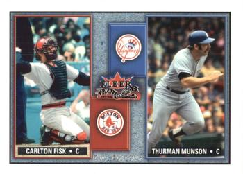 2002 Fleer Fall Classic - Rival Factions #1RF Carlton Fisk / Thurman Munson Front