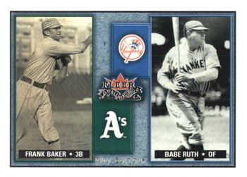 2002 Fleer Fall Classic - Rival Factions #2RF Frank Baker / Babe Ruth Front