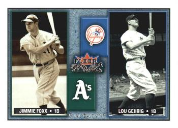 2002 Fleer Fall Classic - Rival Factions #3RF Jimmie Foxx / Lou Gehrig Front