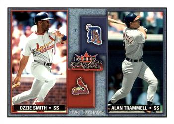 2002 Fleer Fall Classic - Rival Factions #7RF Ozzie Smith / Alan Trammell Front