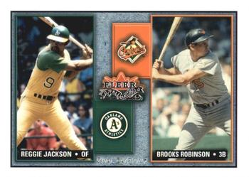 2002 Fleer Fall Classic - Rival Factions #12RF Reggie Jackson / Brooks Robinson Front