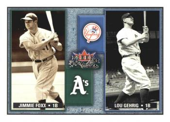 2002 Fleer Fall Classic - Rival Factions Retail #3RF Jimmie Foxx / Lou Gehrig  Front