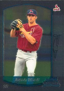2000 Bowman Draft Picks & Prospects Chrome #28 Jason Woolf Front
