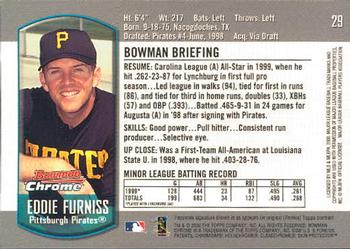 2000 Bowman Draft Picks & Prospects Chrome #29 Eddy Furniss Back