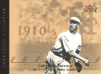 2002 Fleer Premium - Legendary Dynasties Gold #2 Christy Mathewson  Front