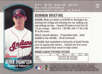2000 Bowman Draft Picks & Prospects #23 Derek Thompson Back