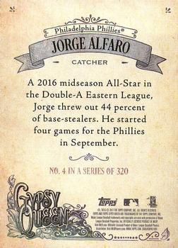Base Jorge Alfaro Baseball Card 2017 Topps Fire - - Gold Minted #143