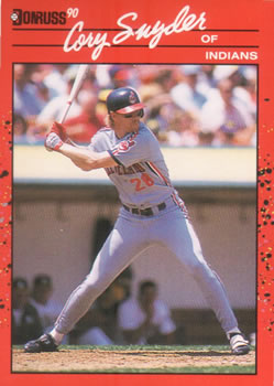 1990 Donruss #272 Cory Snyder Front