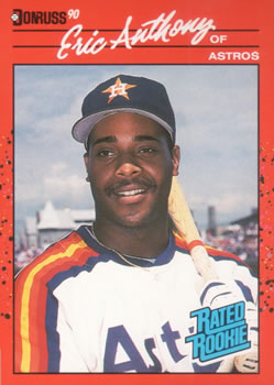 1990 Donruss #34 Eric Anthony Front