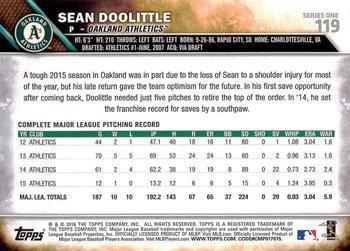 2016 Topps Chrome Sepia Refractor #112 Sean Doolittle Oakland Athletics Card