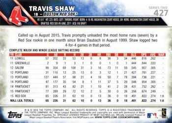 2016 Topps - Limited #427 Travis Shaw Back