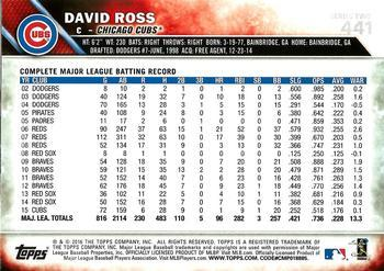 2016 Topps - Limited #441 David Ross Back