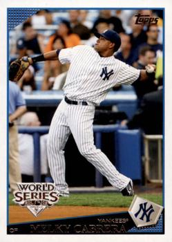 2009 Topps New York Yankees - World Series #NYY14 Melky Cabrera Front