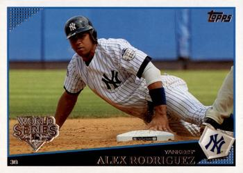2009 Topps New York Yankees - World Series #NYY16 Alex Rodriguez Front