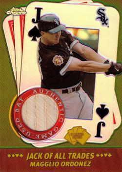 2002 Topps Chrome - 5-Card Stud Jack of all Trades Relics #5JMO Magglio Ordonez Front
