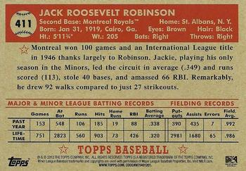 2012 Topps National Convention - VIP Promos #411 Jackie Robinson Back