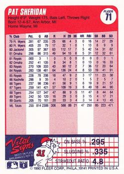 1990 Fleer #71 Pat Sheridan Back