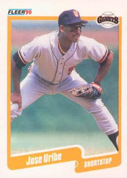 1990 Fleer #74 Jose Uribe Front