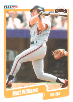1990 Fleer #75 Matt Williams Front