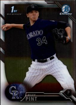 2016 Bowman Chrome Purple Refractor #BDC-50 Draft Picks Riley Pint Baseball Card Verzamelingen