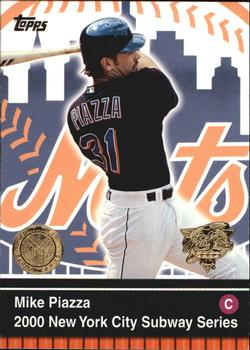 2000 Topps Subway Series #1 Mike Piazza Front