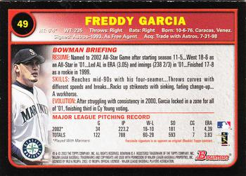 2003 Bowman - Gold #49 Freddy Garcia Back