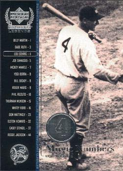 2000 Upper Deck Yankees Legends #53 Lou Gehrig Front