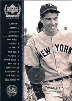2000 Upper Deck Yankees Legends #54 Joe DiMaggio Front