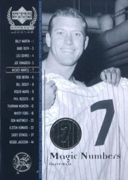 2000 Upper Deck Yankees Legends #55 Mickey Mantle Front
