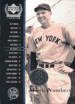 2000 Upper Deck Yankees Legends #57 Bill Dickey Front