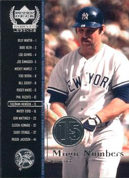 2000 Upper Deck Yankees Legends #60 Thurman Munson Front