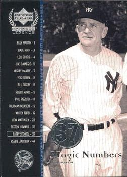 2000 Upper Deck Yankees Legends #64 Casey Stengel Front