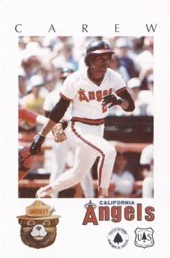 1984 California Angels Smokey #NNO Rod Carew Front