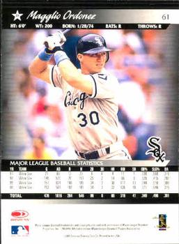 2001 Donruss #61 Magglio Ordonez Back