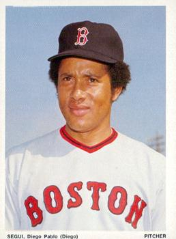 1974 Boston Red Sox Yearbook Cards #NNO Diego Segui Front
