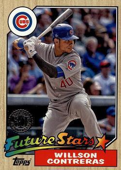 2017 Topps 87 Topps #87-25 Willson Contreras Chicago Cubs Baseball Card