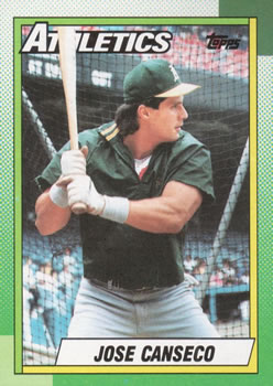 1990 Topps #250 Jose Canseco Front