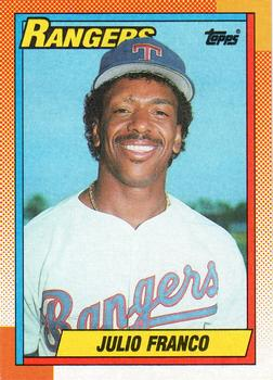 1990 Topps #550 Julio Franco Front