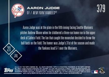 2017 Topps Now #379 Aaron Judge Back