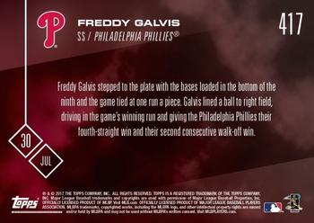 2017 Topps Now #417 Freddy Galvis Back