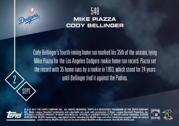 2017 Topps Now #548 Mike Piazza / Cody Bellinger Back
