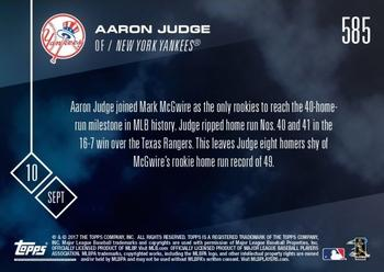 2017 Topps Now #585 Aaron Judge Back