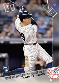 2017 Topps Now #605 Aaron Judge Front